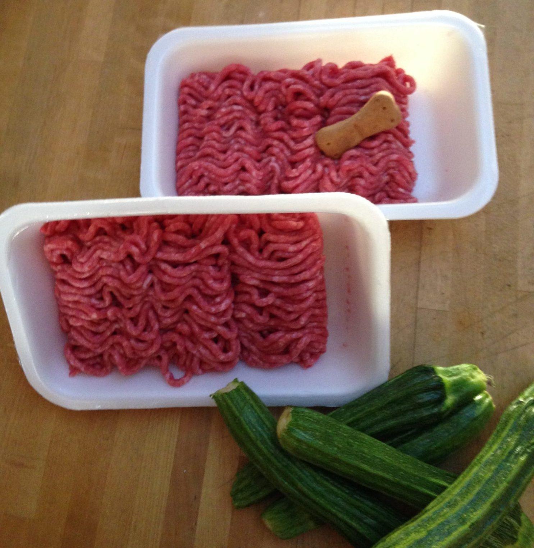 Cucina per cani: conchigliette con vitellone e zucchine