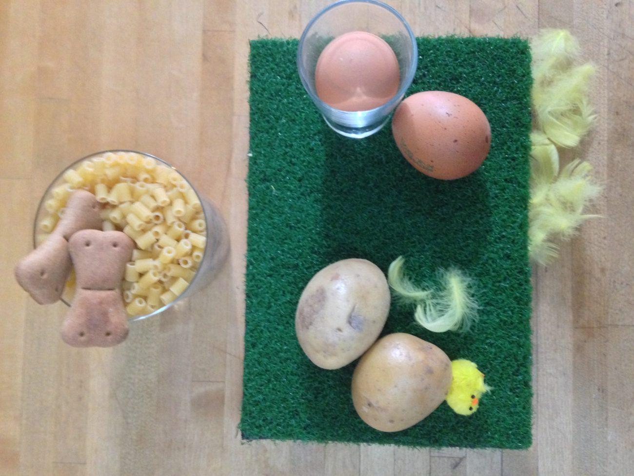Pasta, patate e uova